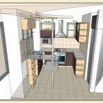 Проект кухни 3D