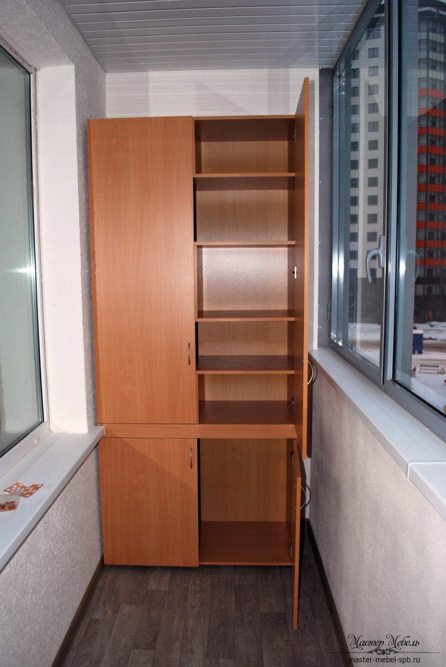 Шкаф на балкон - мебель на заказ в спб.
