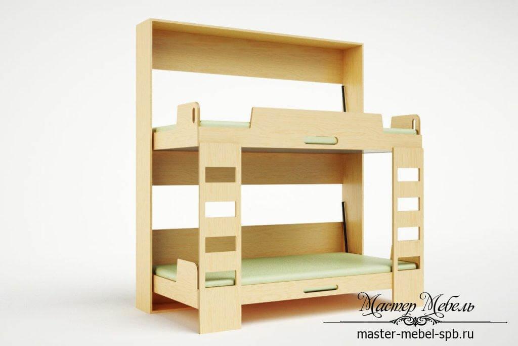 складная двухъярусная кровать для детей заказать в спб