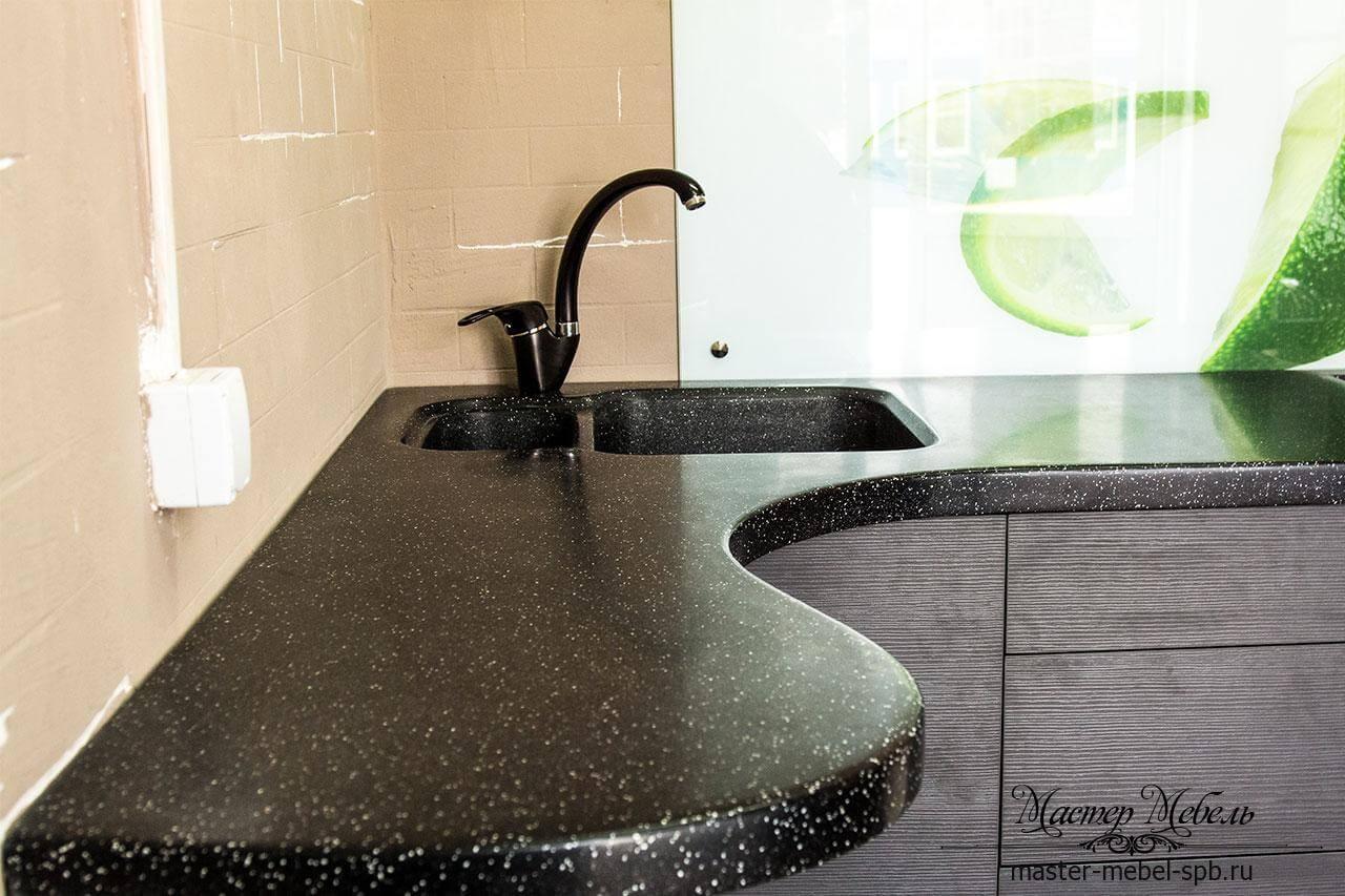 столешница из искусственного камня на кухню заказать спб